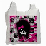 Scene Kid Girl Skull Recycle Bag (One Side)