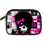 Scene Kid Girl Skull Digital Camera Leather Case