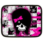 Scene Kid Girl Skull Netbook Case (XL)