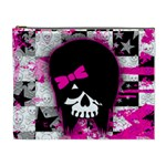 Scene Kid Girl Skull Cosmetic Bag (XL)