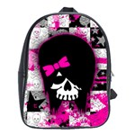 Scene Kid Girl Skull School Bag (Large)
