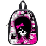 Scene Kid Girl Skull School Bag (Small)