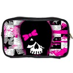 Scene Kid Girl Skull Toiletries Bag (Two Sides)
