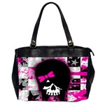 Scene Kid Girl Skull Oversize Office Handbag (Two Sides)