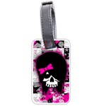 Scene Kid Girl Skull Luggage Tag (one side)