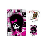 Scene Kid Girl Skull Playing Cards (Mini)