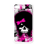 Scene Kid Girl Skull Apple iPhone 4 Case (White)