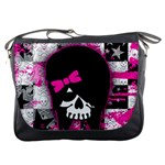 Scene Kid Girl Skull Messenger Bag