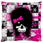 Scene Kid Girl Skull Large Cushion Case (Two Sides)