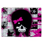 Scene Kid Girl Skull Cosmetic Bag (XXL)