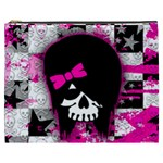 Scene Kid Girl Skull Cosmetic Bag (XXXL)