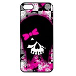 Scene Kid Girl Skull Apple iPhone 5 Seamless Case (Black)