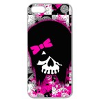 Scene Kid Girl Skull Apple Seamless iPhone 5 Case (Clear)