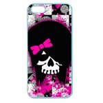 Scene Kid Girl Skull Apple Seamless iPhone 5 Case (Color)