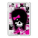 Scene Kid Girl Skull Apple iPad Mini Case (White)