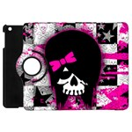 Scene Kid Girl Skull Apple iPad Mini Flip 360 Case