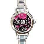Scene Queen Round Italian Charm Watch