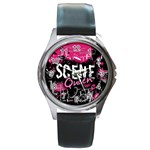 Scene Queen Round Metal Watch