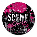 Scene Queen Round Mousepad