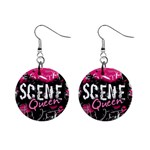Scene Queen 1  Button Earrings