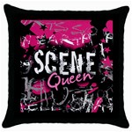 Scene Queen Throw Pillow Case (Black)