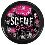 Scene Queen Wall Clock (Black)