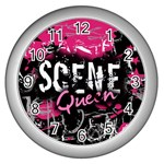 Scene Queen Wall Clock (Silver)