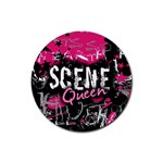 Scene Queen Rubber Round Coaster (4 pack)