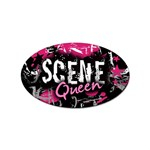 Scene Queen Sticker Oval (10 pack)