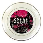 Scene Queen Porcelain Plate