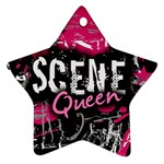 Scene Queen Star Ornament (Two Sides)