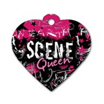 Scene Queen Dog Tag Heart (One Side)