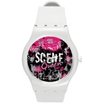Scene Queen Round Plastic Sport Watch Medium