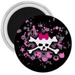 Scene Skull Splatter 3  Magnet