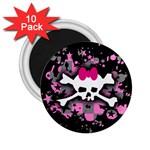 Scene Skull Splatter 2.25  Magnet (10 pack)