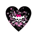 Scene Skull Splatter Magnet (Heart)