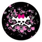 Scene Skull Splatter Magnet 5  (Round)