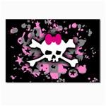 Scene Skull Splatter Postcard 4  x 6