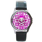 Skull Princess Round Metal Watch