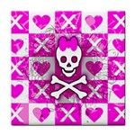 Skull Princess Tile Coaster