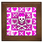 Skull Princess Framed Tile