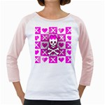Skull Princess Girly Raglan