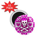 Skull Princess 1.75  Magnet (10 pack)
