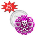 Skull Princess 1.75  Button (100 pack)