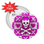 Skull Princess 2.25  Button (10 pack)