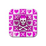 Skull Princess Rubber Coaster (Square)