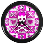 Skull Princess Wall Clock (Black)
