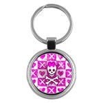 Skull Princess Key Chain (Round)