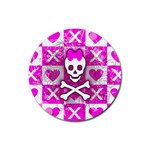 Skull Princess Rubber Round Coaster (4 pack)