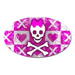 Skull Princess Magnet (Oval)